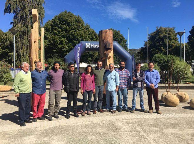Con éxito se desarrolló el primer Simposio Nacional de Esculturas en Castro