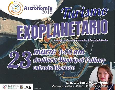 Viajaremos por los exoplanetas este Día de la Astronomía en Paillaco