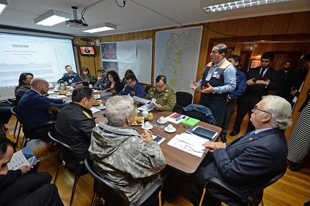 Intendente Jürgensen encabezó primer comité regional de emergencia