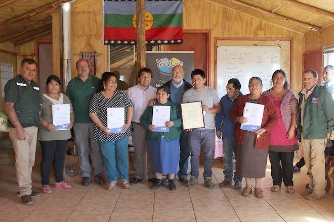 SAG entregó primera certificación orgánica a una comunidad mapuche