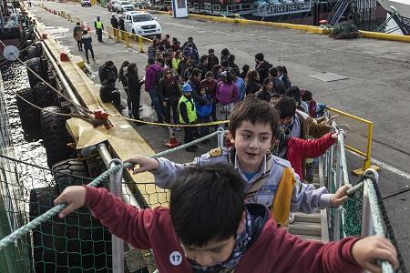 Mil personas se embarcaron con Greenpeace