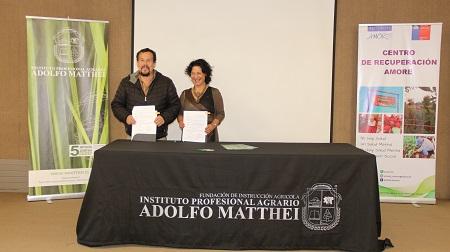 Centro de Recuperación Amore y el Instituto Profesional Agrario Adolfo Matthei firman convenio de colaboración