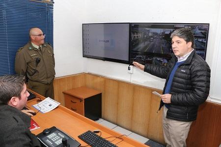 En Valdivia inician marcha blanca de nuevo sistema de televigilancia de seguridad ciudadana municipal