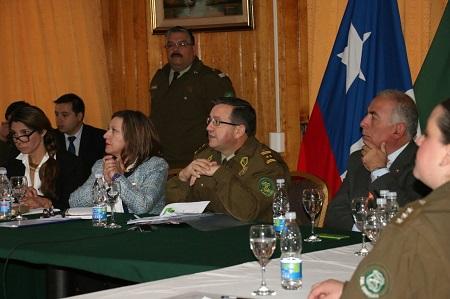 Intendencia junto a Carabineros realizaron la primera reunión del Sistema Táctico de Operación Policial STOP