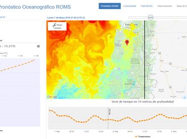 IFOP lanza sitio CHONOS que entrega información oceanográfica