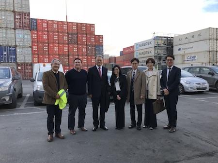 Delegación de Corea del Sur comandada por su embajador visitan puertos de Talcahuano