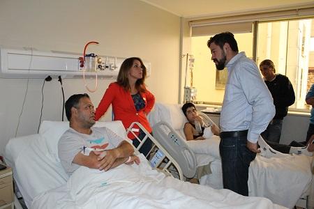 Autoridades regionales visitaron a trabajadores hospitalizados en el marco del Día Internacional del Trabajo