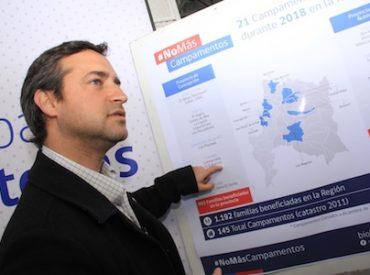 Seremi anunció cierre de 21 campamentos en Región de Biobío en 2018