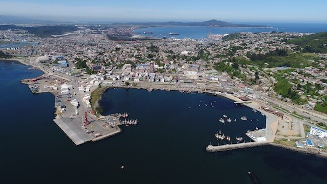 La ruta que marca el retorno de los cruceros a Talcahuano