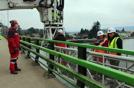 MOP revisó los principales puentes de Valdivia para establecer su estado estructural