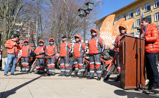 Brigada de motoristas de seguridad ciudadana municipal iniciaron oficialmente labores