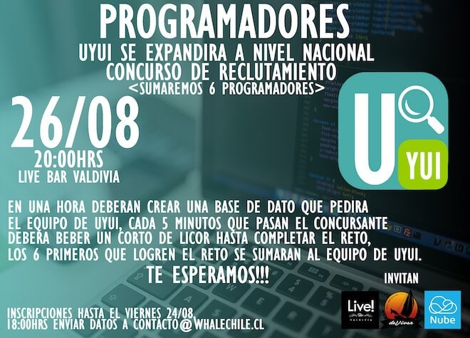 Realizarán en Valdivia primer evento de programación competitiva con shots de licor en Chile