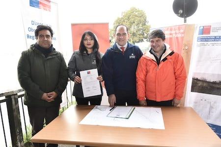 Gobierno Regional, MOP y Municipalidad ponen en marcha reparación de socavón en la Costanera de Valdivia