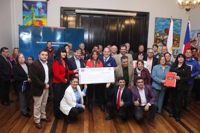 Autoridades de Gobierno en Los Ríos entregaron recursos del Fondo de Medios 2018