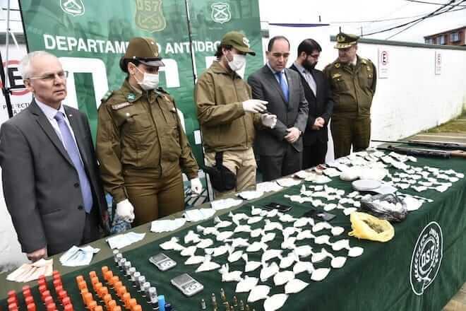 OS 7 de Carabineros incautó 4 mil dosis de droga que sería vendida principalmente en Valdivia en estas Fiestas Patrias