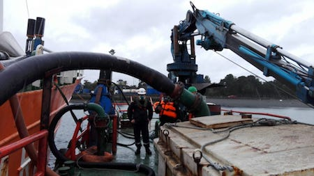 Extracción de residuos sólidos y líquidos del Seikongen se desarrollan en absoluta normalidad y de acuerdo al plan aprobado por las autoridades competentes