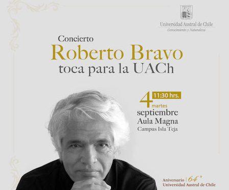 Pianista Roberto Bravo ofrecerá concierto gratuito para toda la comunidad universitaria