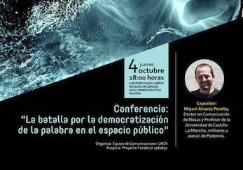 Políticas mediáticas y digitalización: Académico de la U. de Castilla-La Mancha dictará conferencia en la UACh