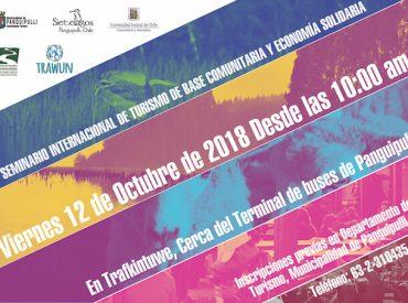 Programa Trawun realizará IV Seminario Internacional de Turismo de Base Comunitaria y Economía Solidaria