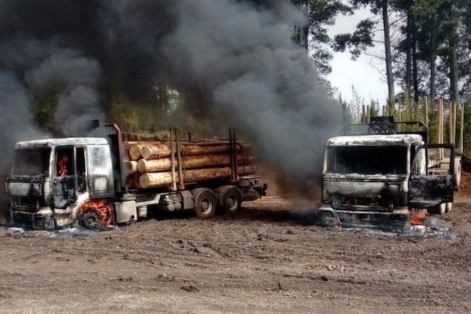 Grave ataque terrorista afectó a empresa contratista forestal