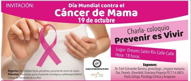 En Día Mundial contra Cáncer de Mama: realizarán encuentro sobre prevención y detección precoz de la enfermedad
