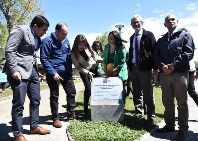 Ministro Fontaine y autoridades regionales inauguraron renovada costanera de Lago Ranco