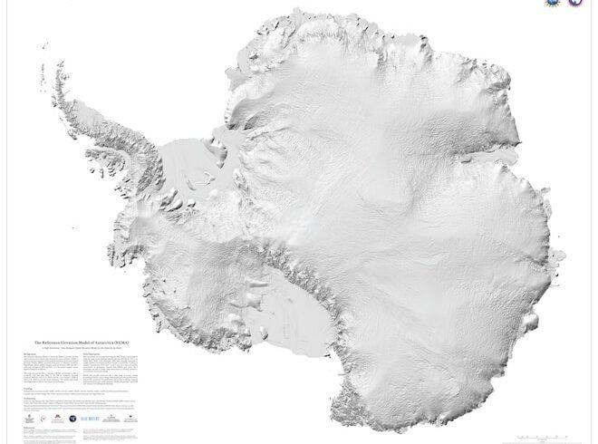 El mejor mapa en alta resolución del mundo es de… la Antártica