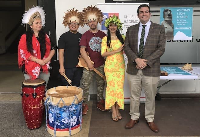Biobío se suma a campaña de recolección de firmas para el retorno del moái del Museo Británico