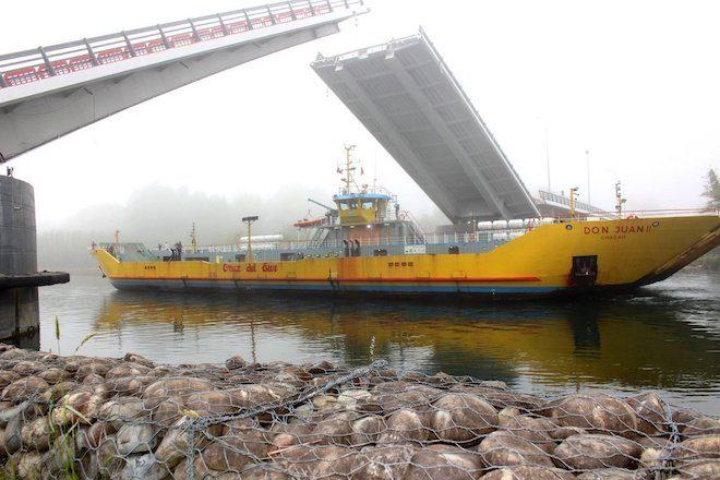 MOP realizó cuarta apertura programada del puenteCau Cau en menos de cinco horas