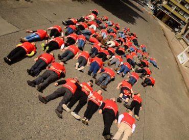 Intervención urbana advierte sobre el impacto de los siniestros de tránsito en Valdivia