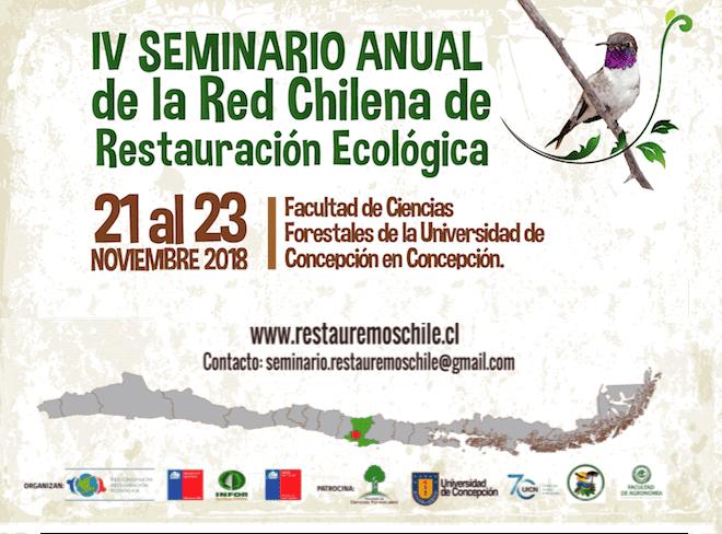 IV Seminario Anual de Restauración Ecológica abordará el desafío de las políticas públicas frente a ecosistemas degradados
