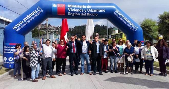 Minvu Biobío inauguró Eje Matta y anunció millonario Plan de inversión en Lota a 2022