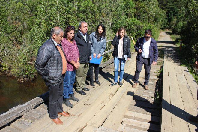 MOP inicia reposición de deteriorado puente ubicado en Cerro La Marina en Mariquina