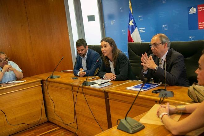 Seremi de Gobierno encabezó mesa para la recuperación de la Hidroeléctrica Chivilingo