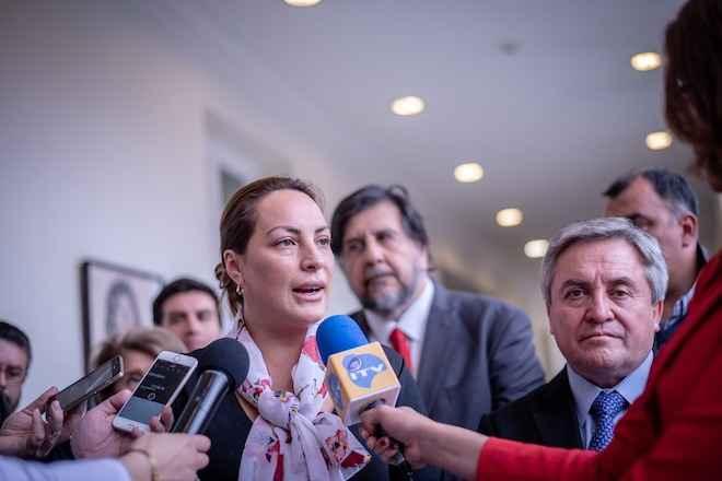 Intendenta de Aysén junto a comité político entregan balance de visita presidencial a la región