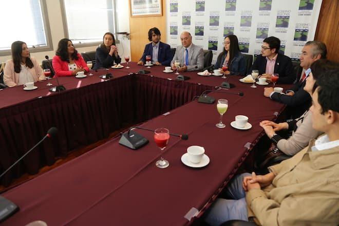 Intendente y Seremi de Educación se reunieron con puntajes nacionales del Biobío