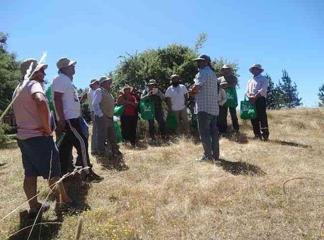 Pequeños agricultores del valle del Itata se capacitan en cosechar aguas lluvias para para sus cultivos