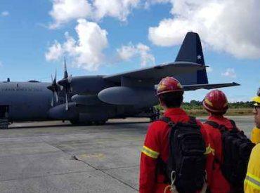 Dos Brigadas de CONAF se trasladaron a trabajar en extinción de incendios forestales a la región de Aysén