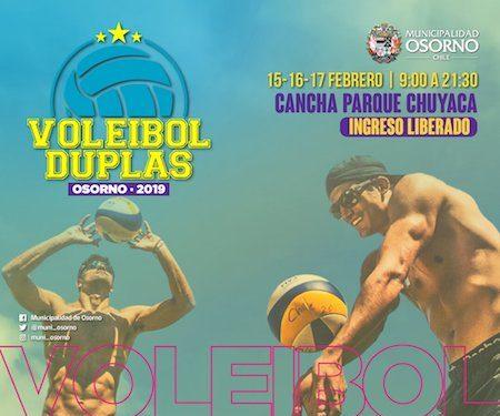"""Destacados """"Primos Grimalt"""" ofrecerán, este viernes 15, una clínica gratuita de vóleibol playa en Osorno"""