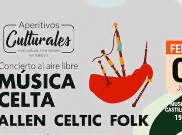 Música celta llega a Valdivia para un nuevo Aperitivo Cultural