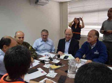 Ministro Moreno inicia despliegue en La Araucanía: incendios han dejado 38 viviendas destruidas y 74 damnificados