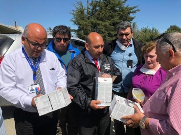 En terreno Servicio de Salud Chiloé entrega mascarillas en zonas afectadas por incendios forestales