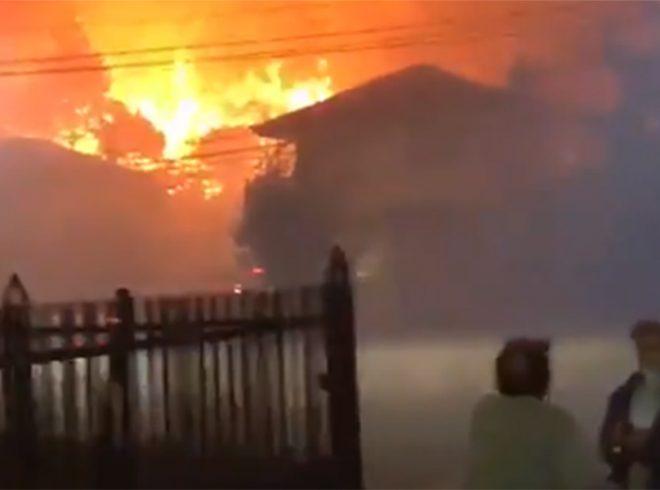 Fuerzas Armadas apoyan a la comunidad de las 4 comunas que se encuentran afectadas por incendios en la Región del Biobío