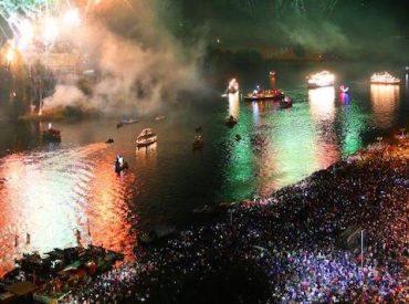 Noche Valdiviana 2019:  definencircuitode navegación y puntos de fuegos artificiales
