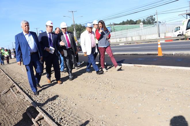 San Pedro de la Paz: primer tramo de terceras pistas en Ruta 160 estará operativo el lunes