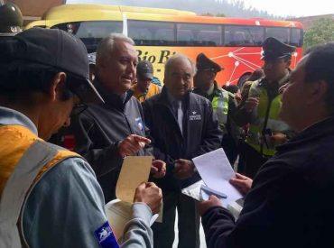 Autoridades encabezaron operativo de fiscalización a buses interurbanos y rurales en terminal Collao