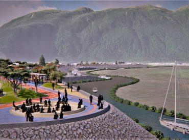 Municipalidad de Aysén realizó entrega de terreno para comenzar la construcción del proyecto enrocado y áreas verdes de Costanera Condell