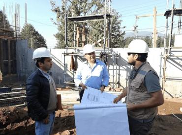 Avanza a paso firme la construcción del nuevo cuartel de Bomberos para Alto Biobío