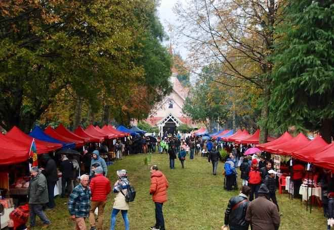 Fiesta Gastronómica de la Castaña: más de 1000 personas celebraron el Día del Patrimonio Cultural en Villa García.