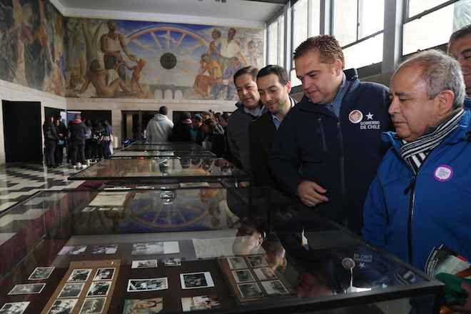 Intendente anunció que hará gestiones para cambiar el  nombre del Salón Mural a Gregorio de la Fuente
